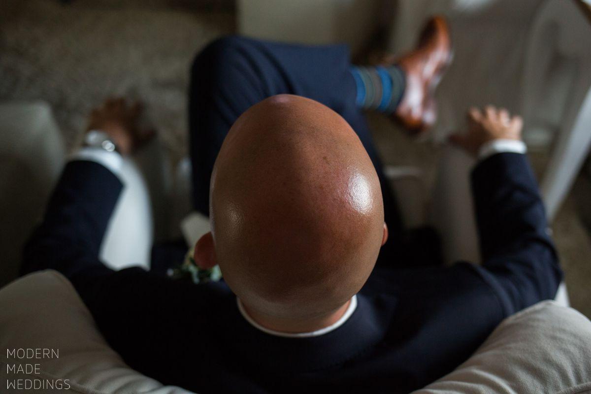 bald groom