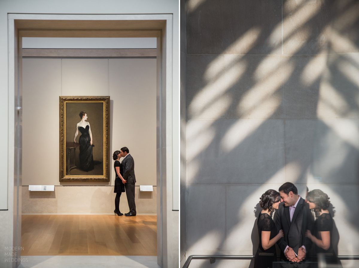 nyc met museum engagement session