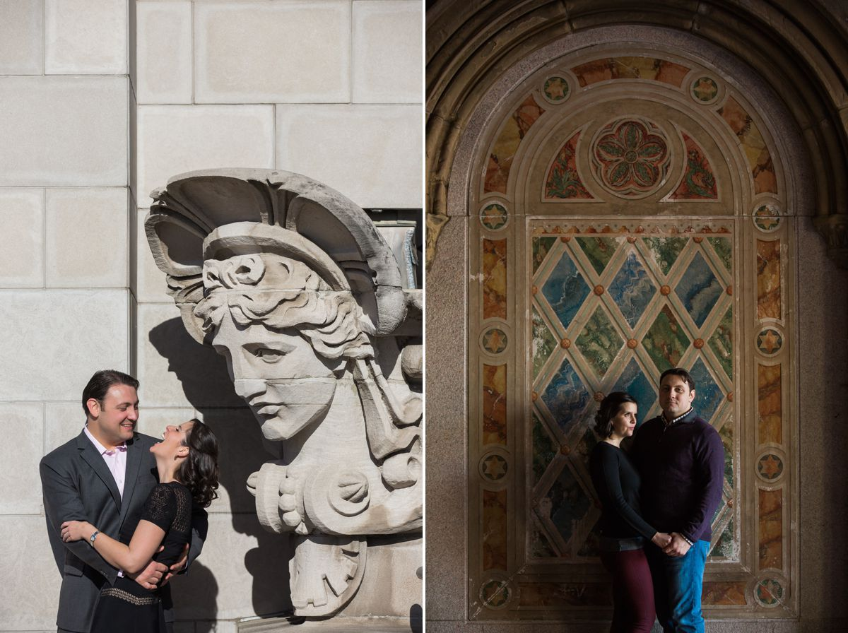 met museum engagement session