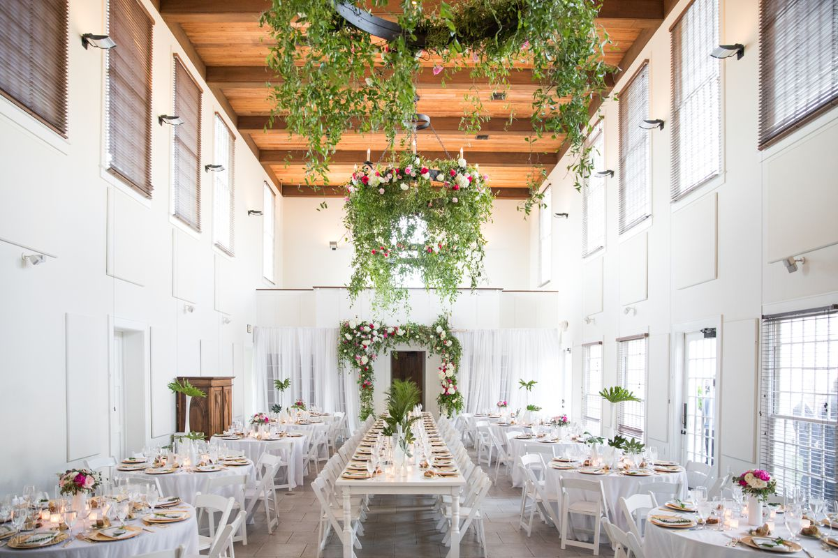 rosemary beach town hall wedding reception